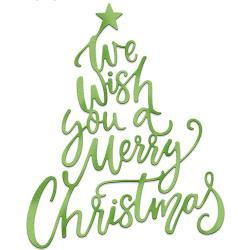 "089165 CottageCutz Elites Dies We Wish You A Merry Christmas 3.8""X3.5"""