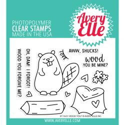 291543 Avery Elle Clear Stamp Set Wood You?