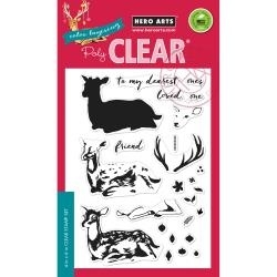 "HA-CL985 Hero Arts Clear Stamps Color Layering Deer 4""X6"""