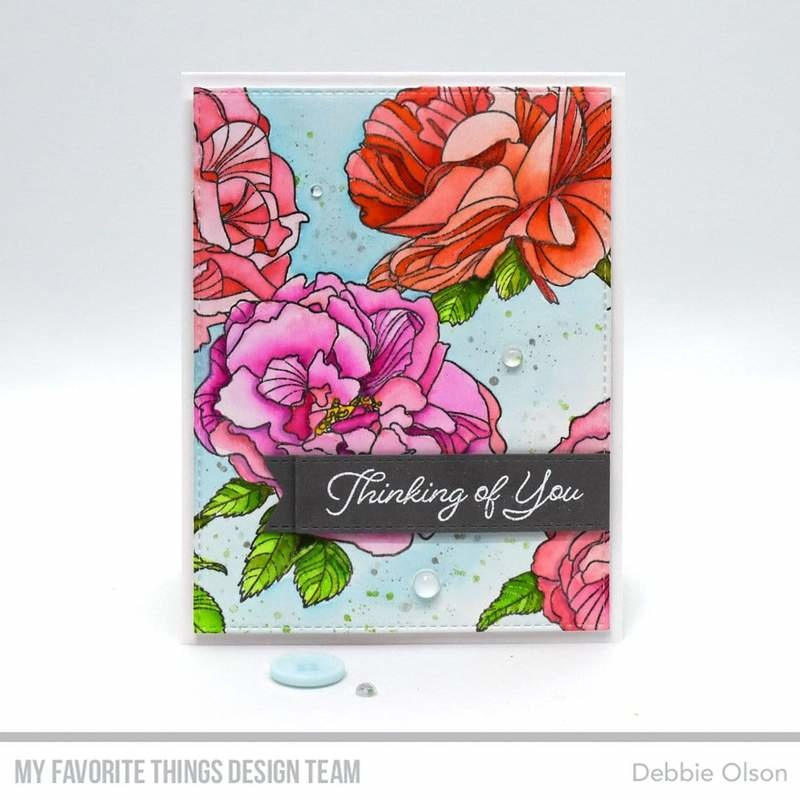 BG-120 My Favorite Things Fanciful Roses Background Stamp