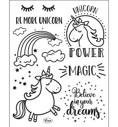 4003.165.00 ViVa Clear Stamps Unicorn Power