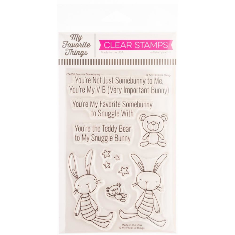 """CS555 My Favorite Things Clear Stamps Favorite Somebunny 4""""X6"""""""