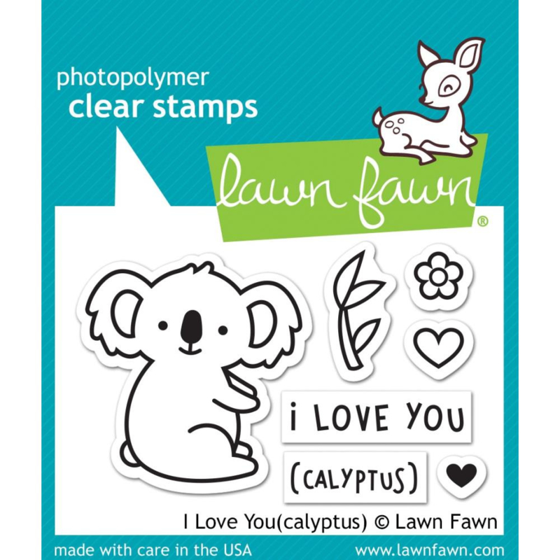 """LF1823 Lawn Fawn Clear Stamps I Love You(calyptus) 3""""X2"""""""