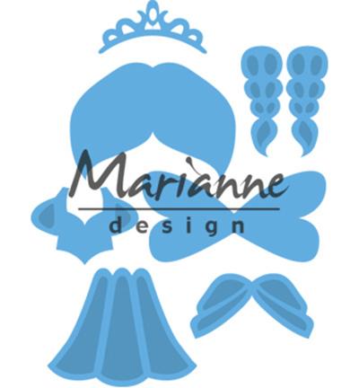 LR0529 Marianne Design Creatables Kim's Buddies princess