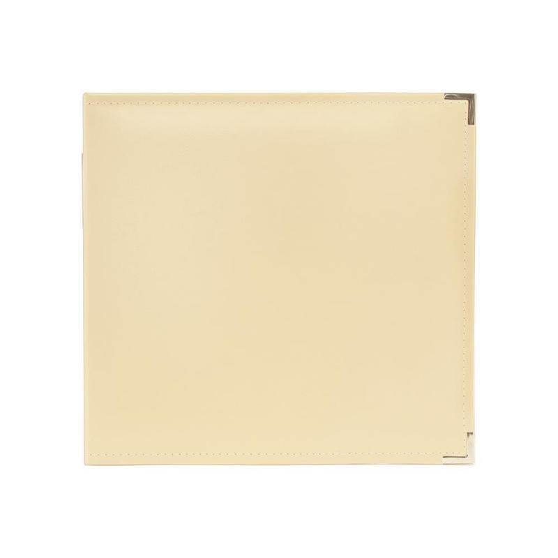 """517012 We R Classic Leather 3-Ring Album Vanilla  12""""X12"""""""