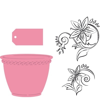 COL1345 Collectable Flowerpot