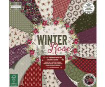 FEPAD218X19 First Edition Winter Rose 12x12 Inch Paper Pad