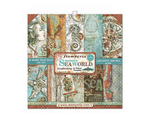 SBBS13 Stamperia Sea World 8x8 Inch Paper Pack