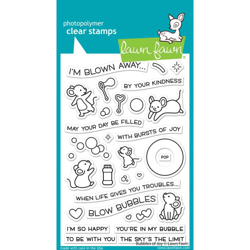 """LF2500 Lawn Fawn Clear Stamps Bubbles Of Joy 4""""X6"""""""