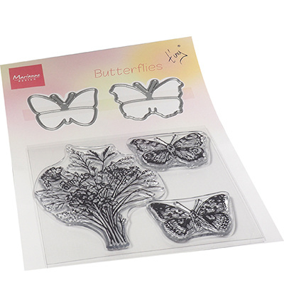TC0879 Marianne Design Tiny's Butterflies stamp & die set