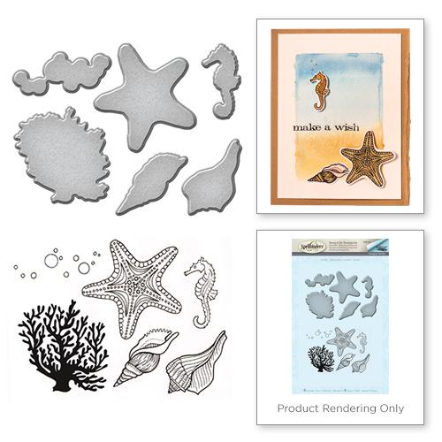 SDS044 Spellbinders Stamp & Die Set Starfish
