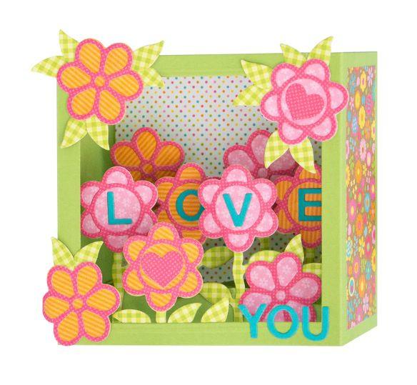 S7-216 Spellbinders Flower Box Card