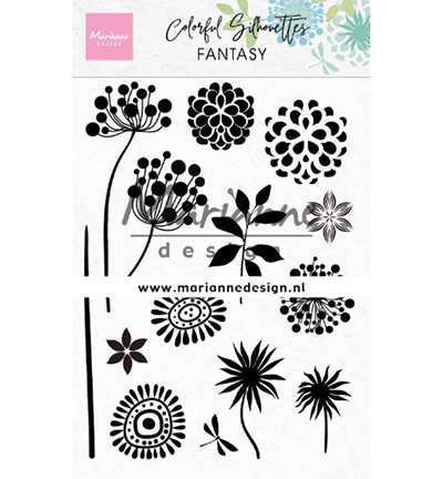 CS1047 Marianne Design Colorful Silhouette Fantasy