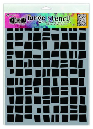306730/1488 Ranger Dylusions Stencils Betsy's Block
