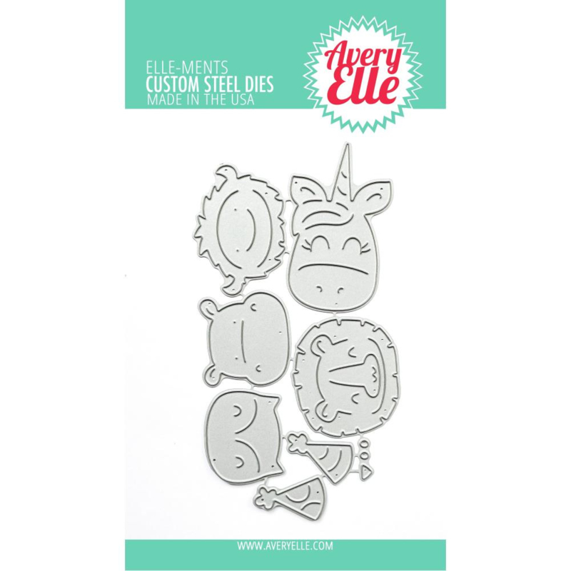 647278 Elle-Ments Dies Peek-A-Boo Birthday Tag Topper