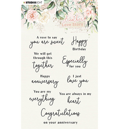 SL-ALS-STAMP02 StudioLight Clear Stamp Love-phrases Another Love Story nr.2