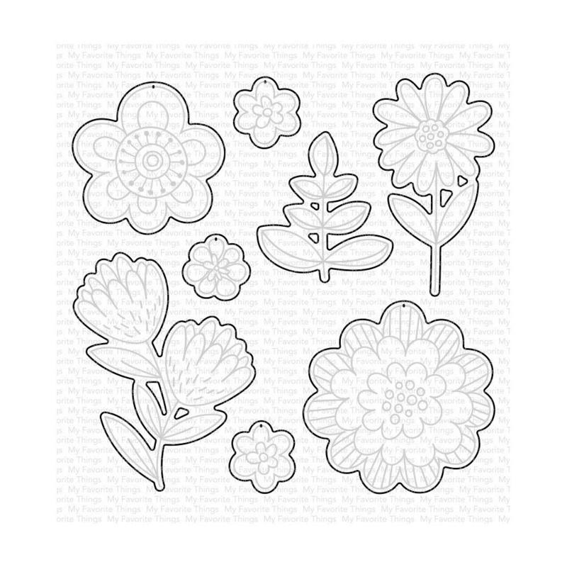 MFT1771 My Favorite Things Die-namics Die Fun Flowers