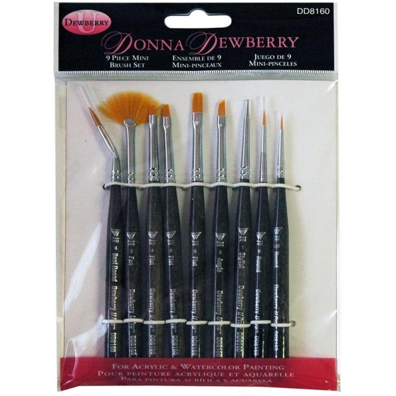 135238 Donna Dewberry Mini Brush Set 9pc