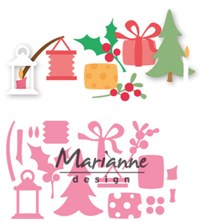 COL1439 Marianne Design Collectables Eline's Christmas decoration
