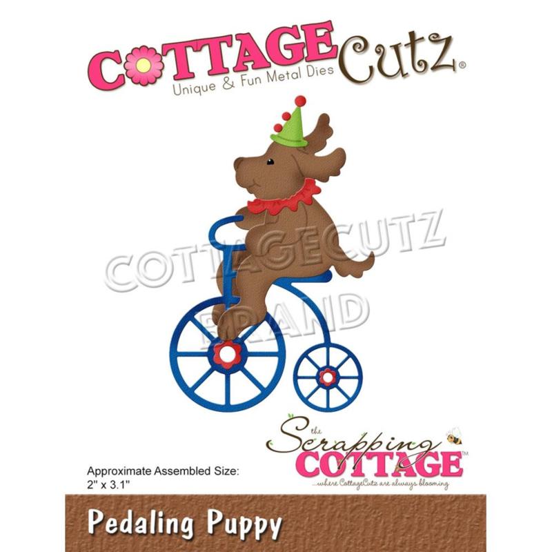 """CC867 CottageCutz Dies Pedaling Puppy 2""""X3.1"""""""