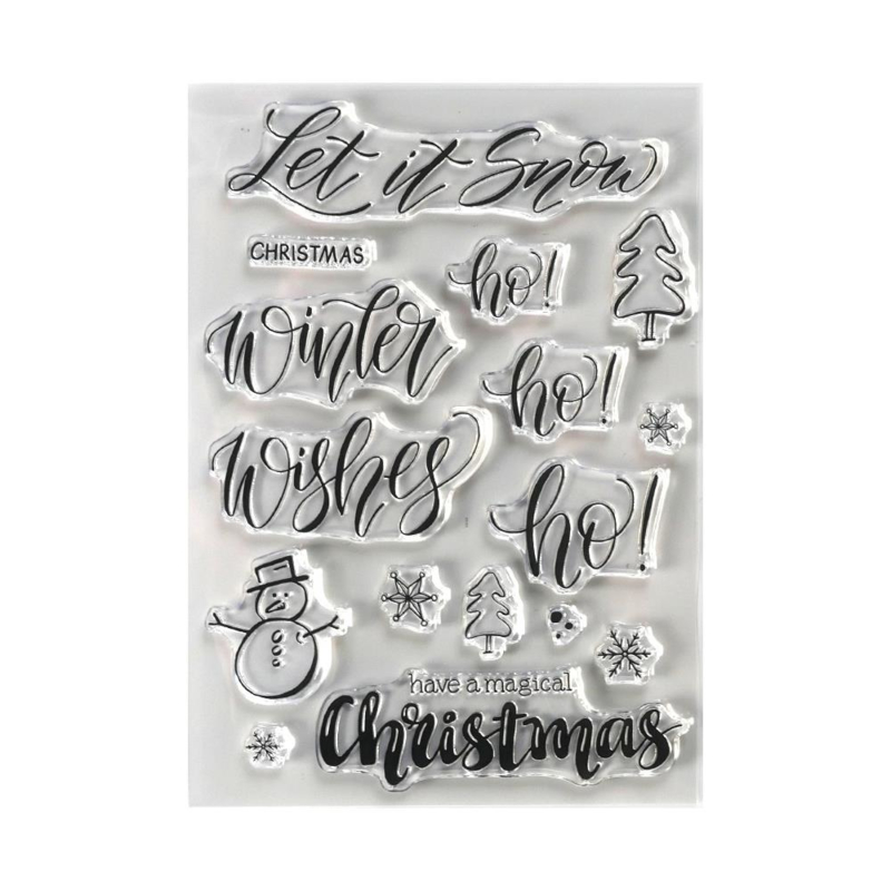 CS188 Elizabeth Crafts Clear Stamps Snow