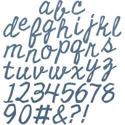 663113 Sizzix Thinlits Dies Cutout Script By Tim Holtz 74/Pkg