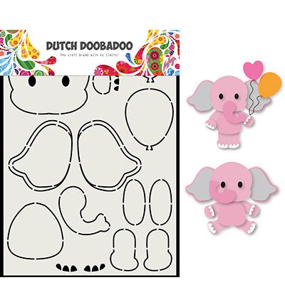 470.713.795 Dutch DooBaDoo Card Art Olifant