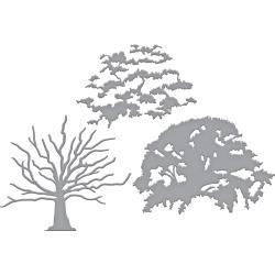 S6149 Spellbinders Indie Line Shapeabilities Dies Layered Oak Tree