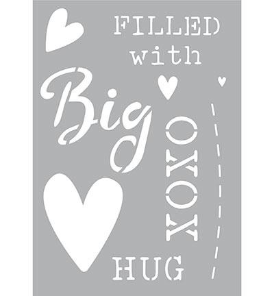 470.266.003 Kippers Stencil A5  BIG Hug
