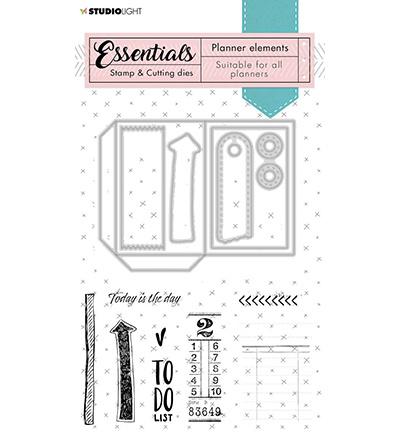 SL-PES-SCD02 StudioLight Stamp & Cutting Die Planner elements Planner Essentials nr.02