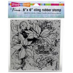 252147 Stampendous Cling Stamps Poinsettia Collage