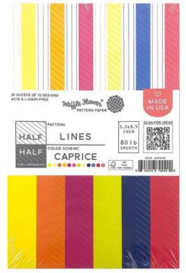 """642407 Waffle Flower Single-Sided Paper Half Lines/Caprice 5.5""""X8.5"""""""