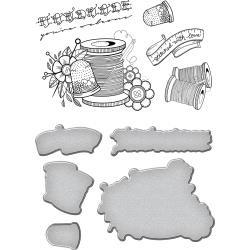 SDS075 Spellbinders Stamp & Die Set Sew