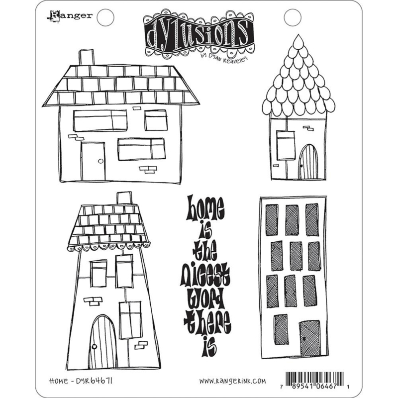 """541860 Dyan Reaveley's Dylusions Cling Stamp Collections Home 8.5""""X7"""""""