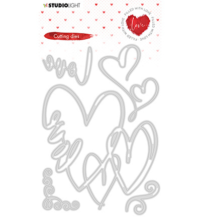STENCILFWL351 Studio Light Cutting Die Filled With love nr.351