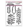 """568485 Dina Wakley Media Cling Stamps Scribbled Branches 6""""X9"""""""
