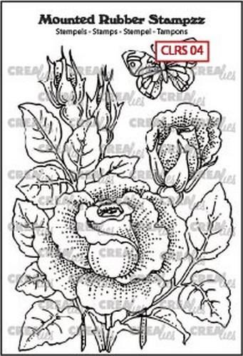 130505/5104 Crealies Mounted Rubber Stampzz no. 4 Roos