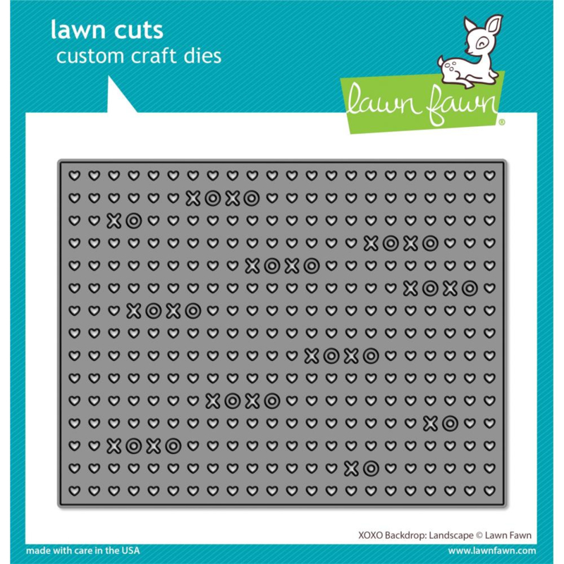 LF2178 Lawn Cuts Custom Craft Die XOXO Backdrop: Landscape