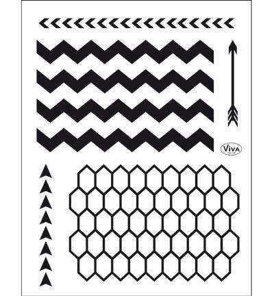 4003.161.00 ViVa Clear Stamps Grafische Hintergründei