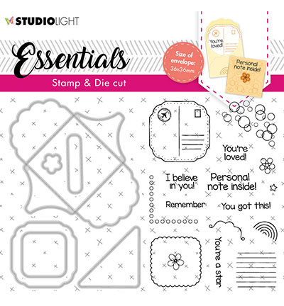 BASICSDC58 StudioLight SL Stamp & Cutting Die Square fancy envelope Essentials nr.58