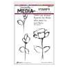 "568480 Dina Wakley Media Cling Stamps Always Flowers 6""X9"""