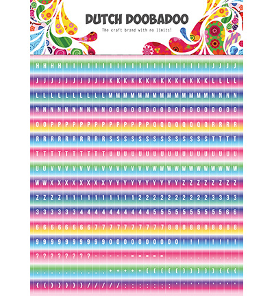 491.200.016 - DDBD Dutch Sticker Art Alphabet