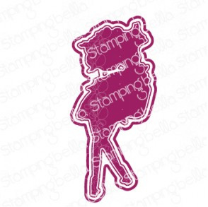 565541 Stamping Bella Cut It Out Dies Curvy Girl With A Jar Of Hearts