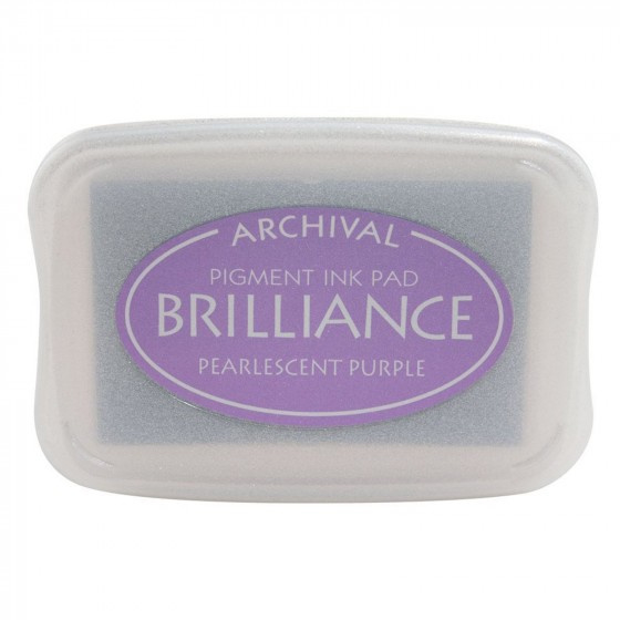 BR1-36 Brilliance ink pad pearl purple