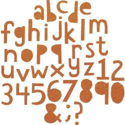 663074 Sizzix Thinlits Dies By Tim Holtz Alphanumeric 102/Pkg