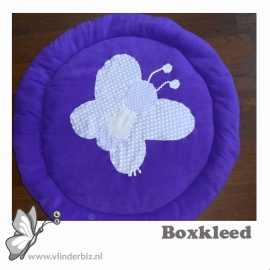 Rond boxkleed vlinder