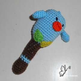 Rammelaar vogeltje lichtblauw
