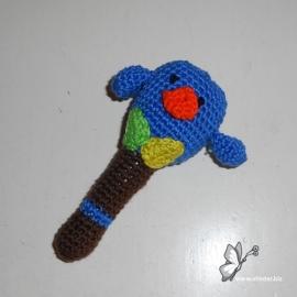 Rammelaar vogeltje kobaltblauw