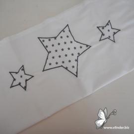 Lakentje sterren wit grijs
