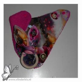 Cadeaupakket roze met een digitale print